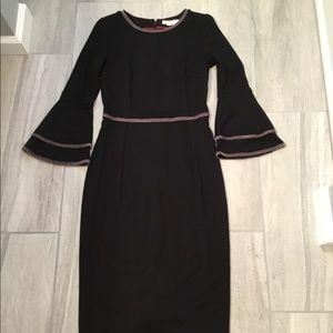 Boden Cora Jersey Dress- Black/Silver